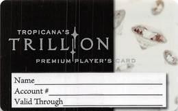 Tropicana Casino Atlantic City NJ BLANK 20th Issue Thin Plastic Trillion Slot Card  ...[RSC]... - Casino Cards