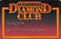 Tropicana Casino Atlantic City NJ 5th Issue Diamond Club Slot Card With Small (R) In Reverse Logo ...[RSC]... - Casino Cards