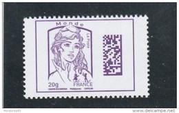 FRANCE 2016 MARIANNE DATAMATRIX MONDE 20GR NEUF YT 5020 - France