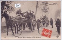 MILITARIA- PAUVRES GENS- REFUGIES BELGES EN FRANCE EN 1914 - Oorlog 1914-18