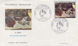 Enveloppe  FDC  1er  Jour   POLYNESIE    Oeuvre   De    PAUL  GAUGUIN     1968 - FDC