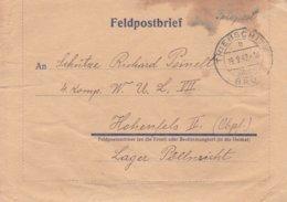 German Feldpost WW2: To 4. Kompanie WUL VII In Hohenfels P/m Triebschitz über Brüx 19.9.1942 (Sudetengau) - Militaria