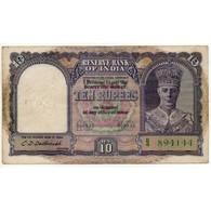 INDE 10 RUPEES 1943 (Pick 24) Etat TTB - India