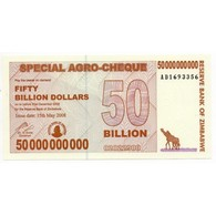 Zimbabwe 50 Billion Dollars 15 May 2008 Pick 63 - Billets