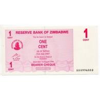 ZIMBABWE 1 Cent  31 Juillet 2007  Pick 33 - Banknoten