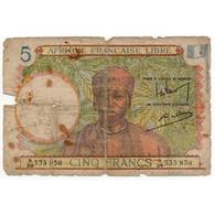 Afrique Française Libre 5 Francs ND 1941 Pick 6 - Frankreich