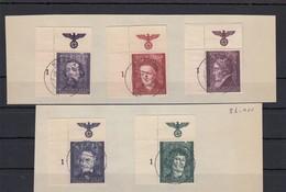 GG Generalgouvernement MiNr. 96-100, Gestempelt, E1, Briefstück - Besetzungen 1938-45