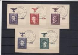 GG Generalgouvernement MiNr. 96-100, Gestempelt E2, Sonderstempel Machtübernahme - Besetzungen 1938-45