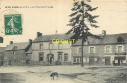 35 Coglès, Place De La Mairie, Affranchie 1916, Beau Cliché Pas Courant - Francia