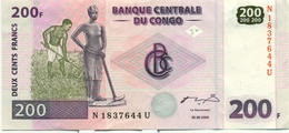 200 FRANCS 30 JUIN 2000 - Democratic Republic Of The Congo & Zaire