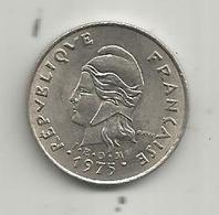 Monnaie , 1975 , 10 Francs ,POLYNESIE FRANCAISE , 2 Scans - Polynésie Française