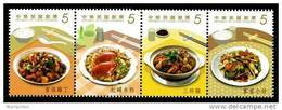 Taiwan 2013 Delicacies- Home Cooked Dishes Stamps Cuisine Teapot Tea Gourmet Food Crab Rice Chicken Mushroom - Neufs