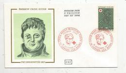 Premier Jour D'émission ,FDC , CROIX ROUGE-MEDECINE-POSTE , 1972 , LUXEUIL LES BAINS ,BDesgenettes ,1762-1837 - FDC