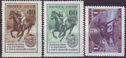 ROSSIA - RUSSIA - Mi. 1798/1800  International Riding And Driving Tournament, Moscow  HORSES - **MNH - 1956 - Nuevos