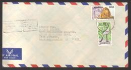 8929-Nigeria – Cover To England  -  Scott 615E +615B – Topic Animals, Birds - Nigeria (1961-...)