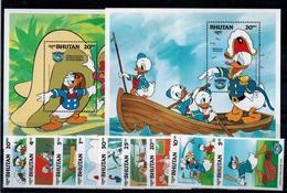 MWD-121114-21 MINT PF/MNH ¤ BHUTAN 1984 (KOMPL. SET)   ¤ THE WORLD OF WALT DISNEY -- FRIENDS OF WALT DISNEY - Disney