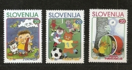 SLOVENIA 2000,SLOWENIEN,MI NO  288-90,CHILDREN STAMPS,,MNH - Slovénie