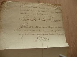 Secrétaire Autographe Louis VI Versailles 02/02/1779 Dépenses - Autógrafos