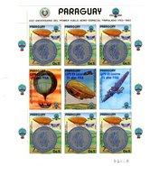 Paraguay 1985-Montgolfière, Avion,Surcharge Congrès FISA MI 3704***MNH-La Feuille - Mongolfiere