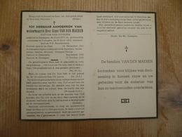 Ressegem Oudegem Zeveneken  Moorsel Laarne Priester Aimé Van Der Maeren 1877 1953 - Imágenes Religiosas