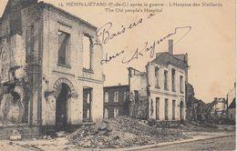 Cp , MILITARIA , HÉNIN-LIÉTARD (P.-de-C.) Après La Guerre , L'Hospice Des Vieillards - War 1914-18