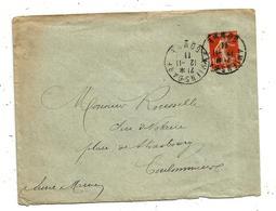 Lettre , 1911 ,AMIENS-GARE ,SOMME , Delmotte ,36 Rue Janvier , COULOMMIERS , Seine Et Marne , 3 Scans - 1877-1920: Période Semi Moderne