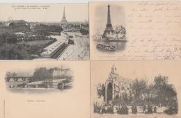"""19/ 2 / 413  -   LOT  DE  16  CPA  DE  PARIS  -""""  EN  1900 ! ! ! - Toutes Scanées - Ansichtskarten"""