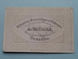 A. VANDALE Librairie - Rue Des Carrières N° 10 (Kantersteen) BRUXELLES ( Porcelein / Porcelaine ) Formaat +/- 9 X 6 Cm - Cartes De Visite