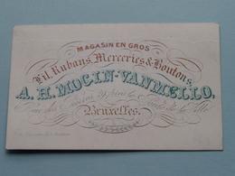 A. H. MOCIN - VAN MELLOMagasin En Gros - Rue Des Pierres 29 BRUXELLES ( Porcelein / Porcelaine ) Formaat +/- 9,5 X 6 Cm - Cartes De Visite