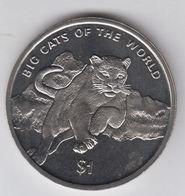 SIERRA LEONE 1 DOLLARO 2001 PUMA BIG CAT COUGAR FDC UNC - Sierra Leona