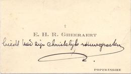 Visitekaartje - Carte Visite - Priester  E.H. R. Gheeraert - Poperinge - Cartoncini Da Visita