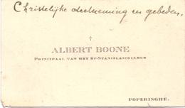 Visitekaartje - Carte Visite - Principaal St Stanislascollege Albert Boone - Poperinge - Cartes De Visite