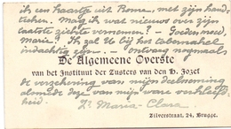 Visitekaartje - Carte Visite - Overste & Zusters St Jozef - Brugge - Cartes De Visite