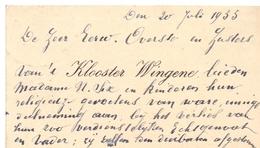Visitekaartje - Carte Visite - Overste & Zusters Klooster Wingene - 1935 - Cartes De Visite