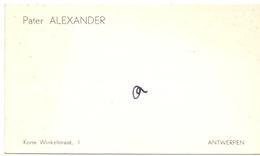 Visitekaartje - Carte Visite - Pater Alexander - Antwerpen - Cartes De Visite