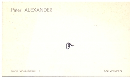 Visitekaartje - Carte Visite - Pater Alexander - Antwerpen - Cartoncini Da Visita