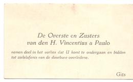 Visitekaartje - Carte Visite - Overste & Zusters St Vincentius à Paulo - Gits - Cartes De Visite