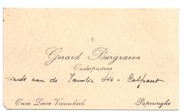 Visitekaartje - Carte Visite - Onderpastoor Gerard Burgraeve - Poperinge - Cartes De Visite