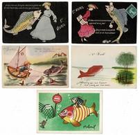13 CP 1er AVRIL  Dont Une Avec Message Ouvrant.. Lot N°1 - Cartes Postales
