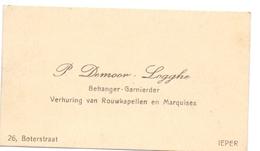 Visitekaartje - Carte Visite - Behanger P. Demoor - Logghe - Ieper - Cartes De Visite