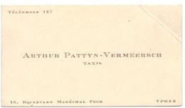 Visitekaartje - Carte Visite - Taxis - Arthur Pattyn - Vermeersch  - Ieper - Cartes De Visite