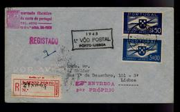 Portugal First Flight 1º VOO POSTAL ( PORTO - LISBOA ) Airmail 1945 #9929 - Poste Aérienne