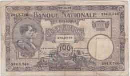 100 FRANCS 27 JUIN 1921 - [ 2] 1831-... : Royaume De Belgique