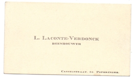 Visitekaartje - Carte Visite - Beenhouwer L. Laconte - Verdonck  - Poperinge - Cartes De Visite