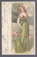 1901 FEMME LADY ART NOUVEAU - Femmes