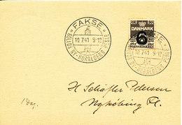 Denmark Card 10-7-1941 Fakse Rollos By, Koralöens Perle Sent To Nyköbing Falster - 1913-47 (Christian X)
