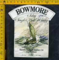 Etichetta Vino Liquore Whisky Bowmore - Scozia - Etichette
