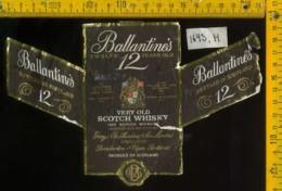 Etichetta Vino Liquore Whisky Ballantines - Scozia - Etichette