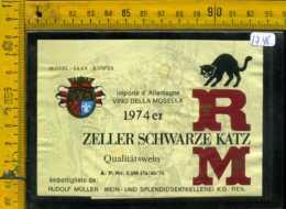 Etichetta Vino Liquore Zeller Schwarze Katz Mosella - Germania - Etichette