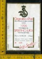 Etichetta Vino Liquore Grignolino D'Asti 1996 L. Spertino - Mombercelli - Etichette